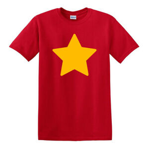 Steven-Universe-YELLOW-STAR-Adult-Comedy-RED-Men-Women-Unisex-T-shirt-2914