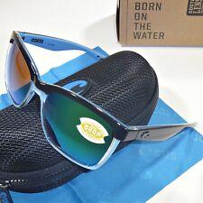 0a7644bd83d Costa Del Mar Anaa Sunglasses-Black Crystal Lt Blue Frame Green Mirror 580P  Lens