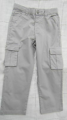 LITTLE WHITE COMPANY BOYS GREY COTTON CHINOS AGES 2 3 4 5 6 7 8 BNWOT