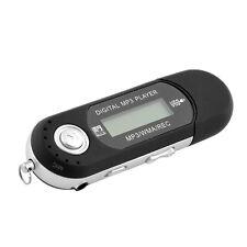 8GB USB Flash Drive LCD Mini FM Radio Slim Black WMA MP3 Digital Music Player