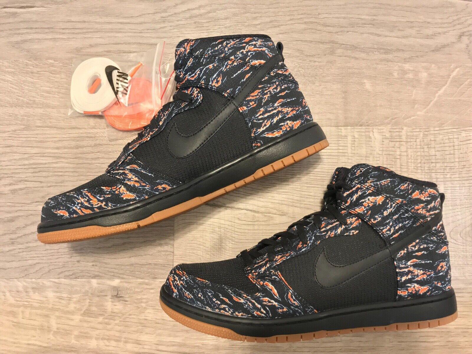 Nike Dunk High Supreme Futura x Nike - Size 11.5 - Brand New, Black, orange
