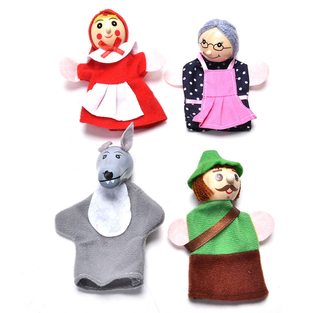 4-10X Family Finger Puppets Cloth Doll Baby Educational Hand Cartoon AnimJBEC 9