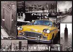 Poster New York Taxi.New York Taxi And Sights Montage 3d Moving Picture Poster 300mm X