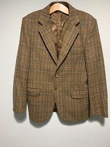 """MéThodique Vintage Harbarry D'angleterre Homme Veste En Tweed Tour De Poitrine 42"""" Très Bon état Carreaux-afficher Le Titre D'origine"""