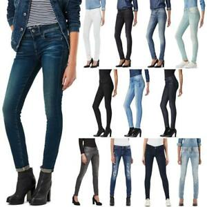 G-Star Lynn Mid Waist Skinny Damen Jeans Hose Jeanshose Röhrenjeans