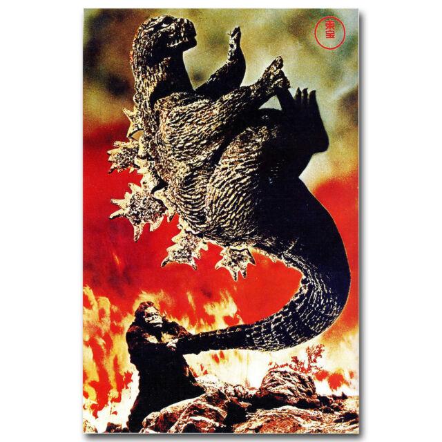 1962 King Kong Vs Godzilla horror cult movie poster print 11