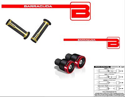 Bene Barracuda Manopole Oro + Contrappesi B-lux Rossi Per Tutte Le Moto Bmw Ultima Tecnologia