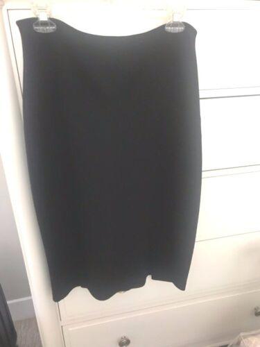 New Wool Black Blend Double 14 Slit Size 16 Skirt zzB1qAwWr