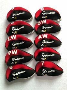 10PCS-Protective-Club-Covers-for-Taylormade-M2-Iron-Headcovers-4-LW-Red-amp-Black