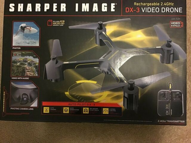 Sharper Image Dx 3 Video Drone Rechargeable 24 Ghz Ebay