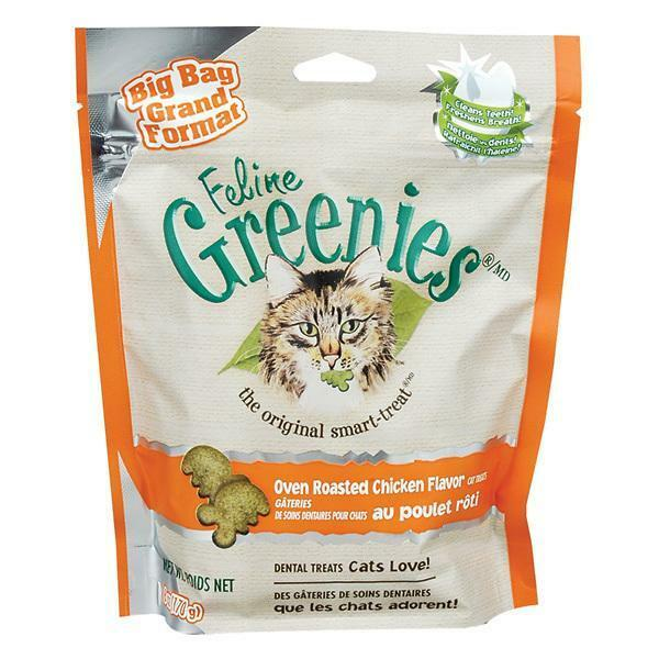 GREENIES Feline Dental Treat VALUE SIZE for Cats Catnip Flavor 5.5oz - 10-PACK