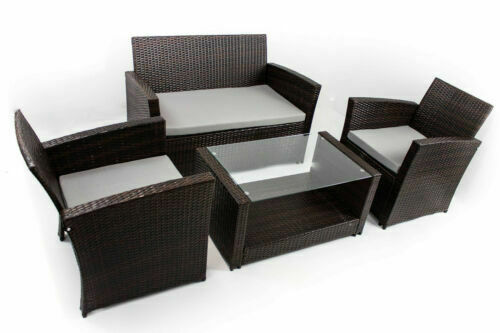 Tavoli Sedie Da Giardino Usati.Set Di Tavoli E Sedie Da Esterno In Vetro Marroni Acquisti