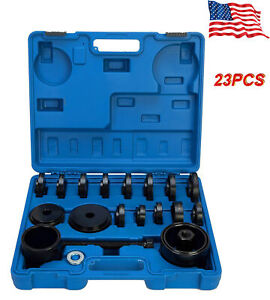 23PC-Front-Wheel-Drive-Bearing-Press-Puller-Removal-Installer-Adapter-Kit-W-Case