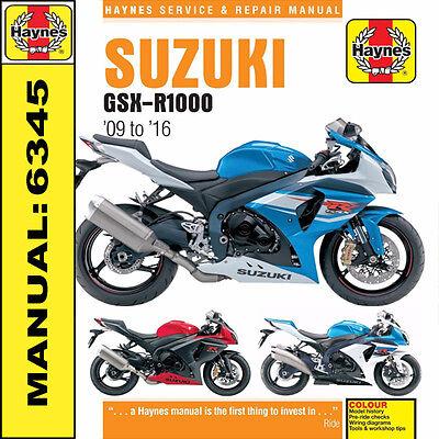 Suzuki GSX-R1000 GSXR1000 2009 - 2016 Haynes Manual 6345 NEW