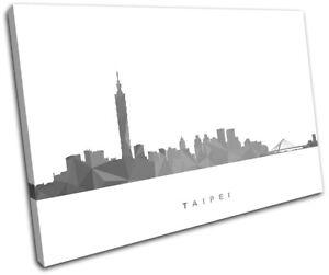 Taipei-Skyline-Geometric-Modern-City-SINGLE-CANVAS-WALL-ART-Picture-Print