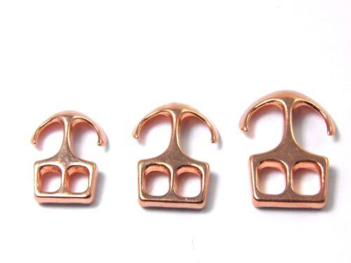 1//2//5//10//50x 3 tamaños metal Rosé Gold-aleación anclajes de cierre zierverschluß