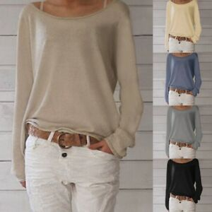 Celmia-8-22-Women-Casual-Baggy-Tops-Blouse-T-Shirt-Loose-Jumper-Pullover-Sweater