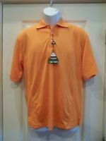 Bollé Golf Tech Piqué Men's Polo Shirt Small Orange