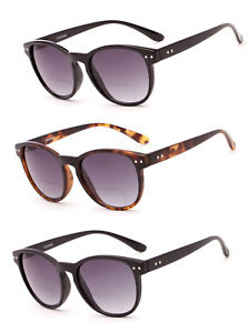 dc89434718a 1 or 2 Pair(s) Fashion Round Inner Bifocal Reading Sunglasses Silver ...