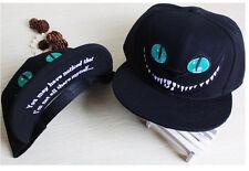 Fashion ALICE In WONDERLAND Cheshire Cat Baseball Cap Snapback Adjustable Hat