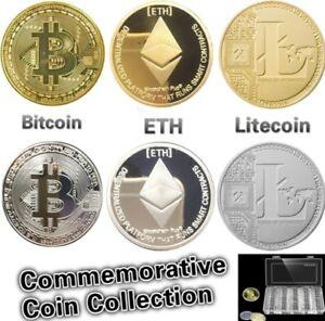 BITCOIN Physical Bitcoin in Protective Acrylic case FAST SHIPPING Commemorative