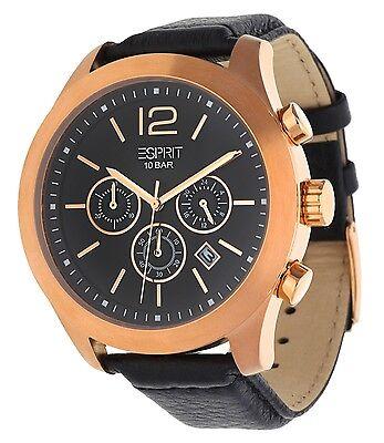 Esprit Herren Armbanduhr Misto Chronograph schwarz ES105371002