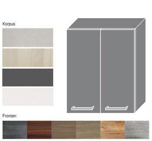 Details zu Hängeschrank Küchenschrank Schrank Küche 80cm mit Einlegeboden  2türig (SI-W3/80)