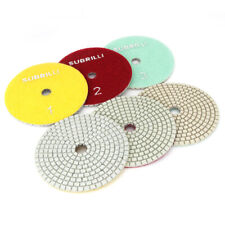 4 Inch 3 Step Diamond Polishing Pads Wet Or Dry For Granite Marble Concrete