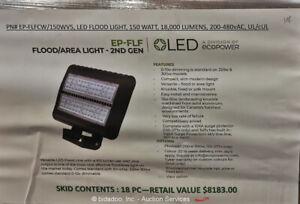 Lot of (18) Ecopower EP-FLFCW/150WV5 Flood & Area Lights EP-FLF bidadoo -New