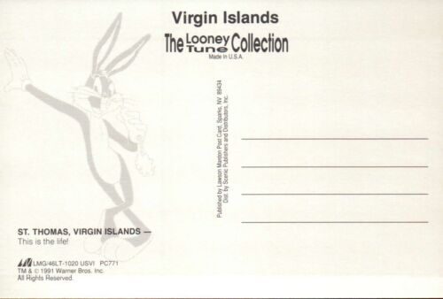 Daffy Duck Enjoys St Looney Tunes Postcard - Thomas in the US Virgin Islands