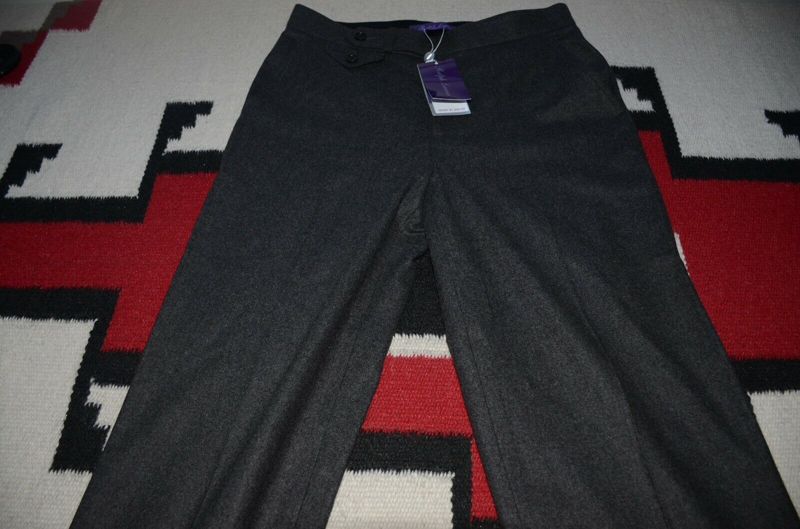 Ralph Lauren Collection Purple Label Made in USA 100% Merino Wool Casual Pants