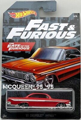 2019 HOT WHEELS FAST & FURIOUS '61 CHEVROLET IMPALA ...