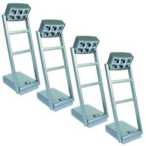 TIPP-KICK-Flutlicht-Set-4-Stueck-Flutlicht-LED-Licht-Anlage-Masten-beweglich