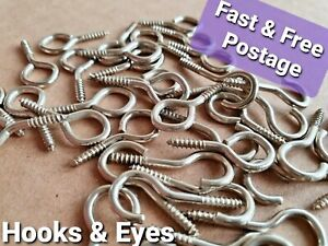 Hooks And Eyes For Net Curtain Wire Silver Chrome Screws Picture Hanging Frame