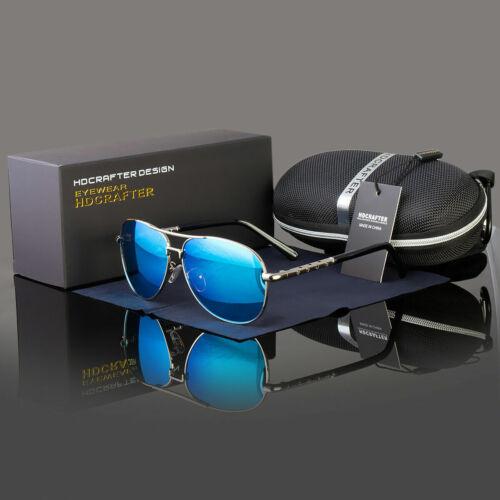 Black Polarized Sports Eyewear Pilot Men Glasses Outdoor Driving Uv Sunglasses