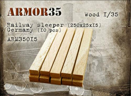 10pcs Armor35 1//35 German Wooden Railway Sleeper