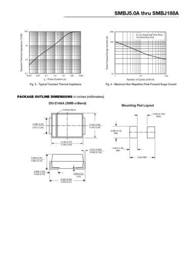 5~33V DO-214AA TVS Diodes 600W Peka Transient Voltage Suppressor Uni-directional