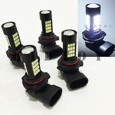 Combo 9006-HB4 9005-HB3 Samsung LED 42-SMD White Headlight Bulbs #Gd2 Hi/Lo Beam