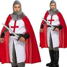 Deluxe Adult Mens St Georges Day England Knight Olde King Fancy Dress Costume