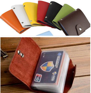Women-PU-Leather-Pocket-Business-ID-Credit-Card-Holder-Case-Wallet-For-24-Card