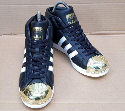 Adidas in nere Uk Pro Superstar da ginnastica modello 6 Rare taglia con punta metallo Scarpe oro UTSWn