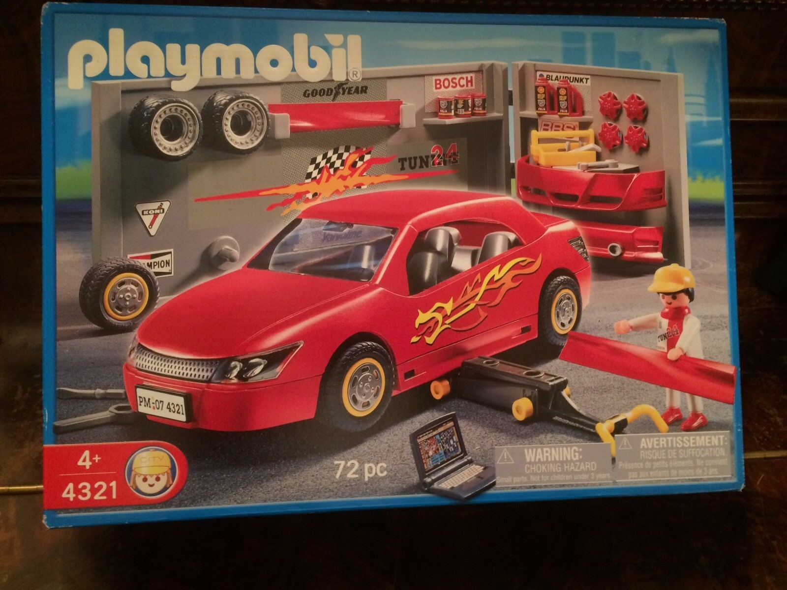 Playmobil 4321 Red Racecar in Tuning Shop NEW NEW NEW in Box e3ef74
