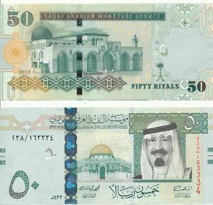 Saudi-ARABIA-SAUDI-ARABIA-50-Riyals-2012-UNC-Pick-34c