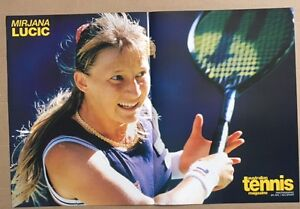 MIRJANA-LUCIC-Original-Vintage-Australian-Tennis-Magazine-Poster