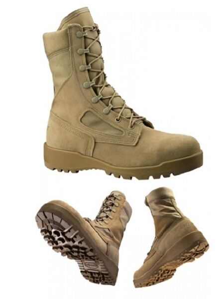 US Army BELLEVILLE 390 DES Combat ACU Tan Military Boots Army Stiefel 9R Gr 43