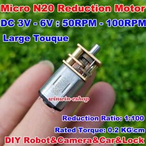 DC 3V 5V 6V 33RPM Mini Micro Full Metal Gear Gear Motor Large Torque Slow Speed