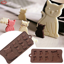 7 Cavity Cute Cat Shaped Silicone Cake Mold Candy Cookies Chocolate Baking Mold