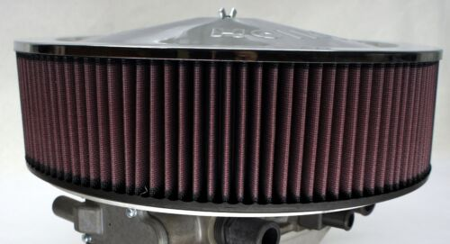 DUAL IMPCO 425 AIR CLEANER FILTER HEAVY DUTY ALUMINUM MOUNT HIGH FLOW K/&N HOLLEY