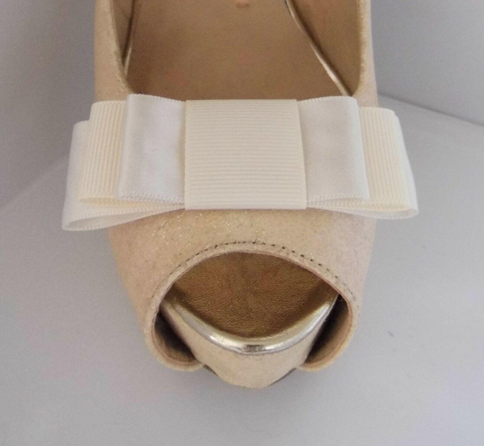 2 Handmade Ivory Satin & Grosgrain Triple Bow Shoe Clips