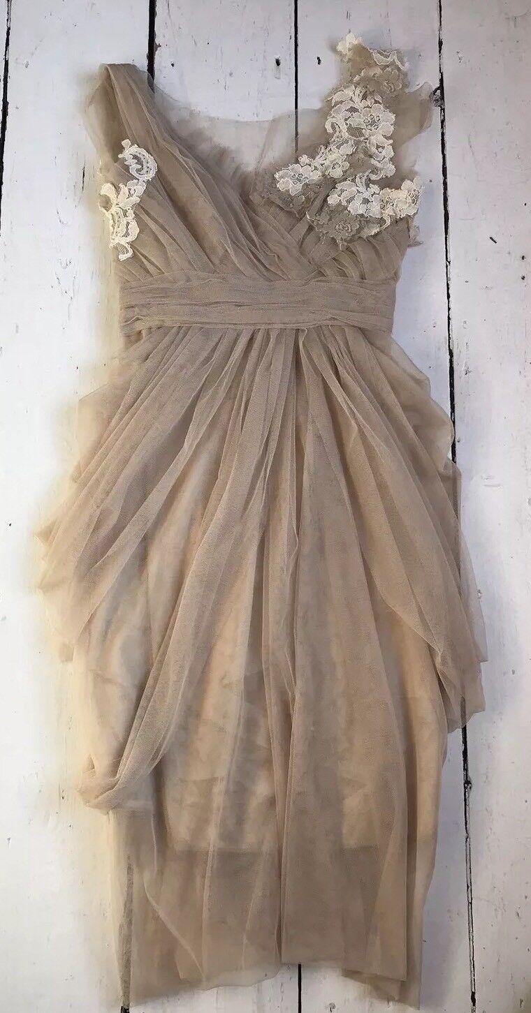 Impresionante Tul & Encaje Vestido Talla 6  8 XS  compras en linea